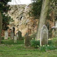 Abbey and churchyard
